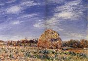 Alfred Sisley Meule sur les bords du Loing oil painting reproduction